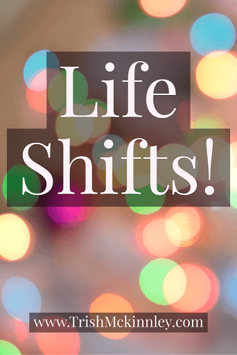 Post image with 'Life Shifts' in front of bokeh