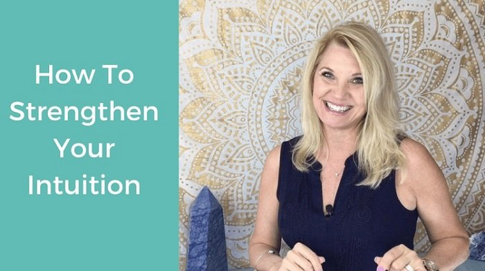 Trish McKinnley smiling with 'How to strengthen your intuition' written beside her