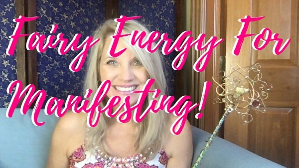 Headshot of Trisha McKinnley with the title 'Fairy Energy for Manifesting' Overlaying