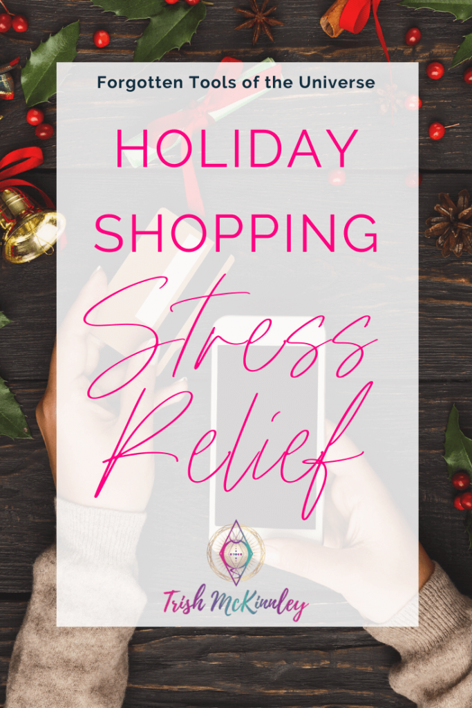 Holiday Shopping Stress Relief Title Pin Image-holiday background