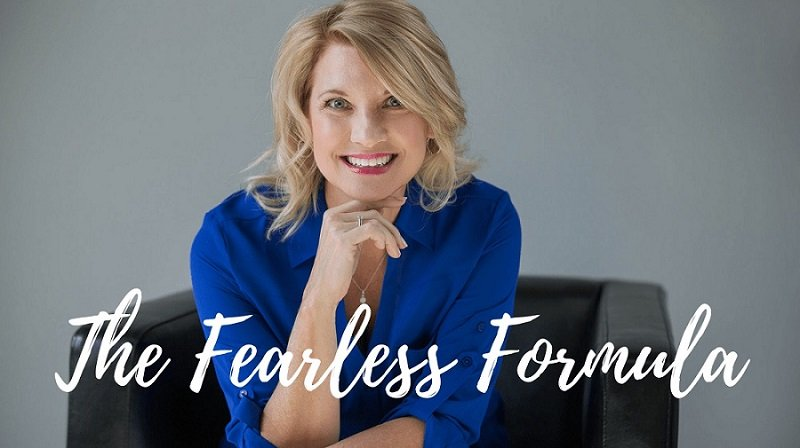 Trish McKinnley sitting and smiling with 'The Fearless Formula' title overlayed