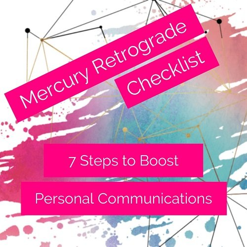 Image post with the title: Mercury Retrograde Checklist - 7 Steps to Boost Your Personal Communications