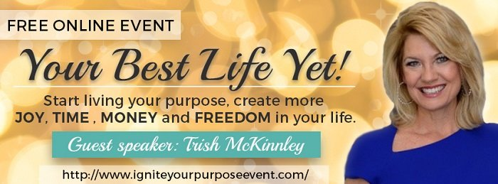 Promotional picture of Trish McKinnley's 'Your Best Life Yet' event poster