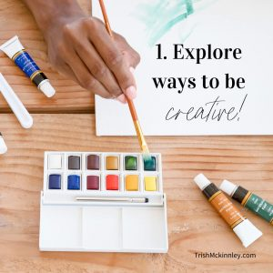Ways to Stay Positive Creativity image with Paint Set