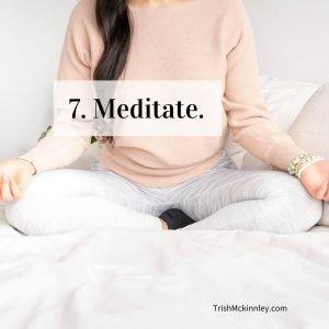 Ways to Stay Positive Meditation Image Woman Sitting Cross Legged