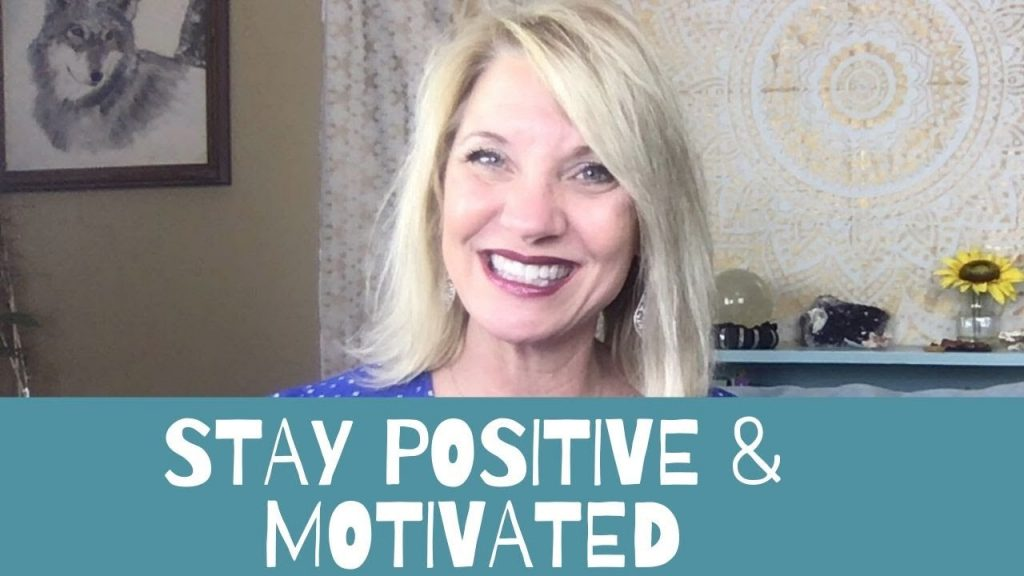 Photo of Trish with the words stay positive and motivated