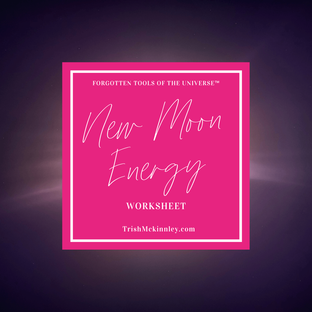 Title image for New Moon Energy Worksheet.