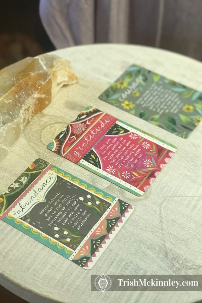 Wild Offering Oracle Deck 3 card spread