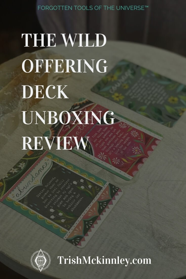 Wild Offering Oracle Deck Review Pinterest image.